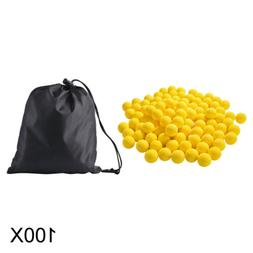 100x Round Refill Pack Replace Bullet Ball for Nerf Rival Ap