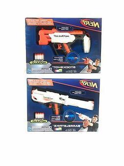 2 Pack Nerf N-Strike Modulus BarrelStrike & StockShot Toy Da