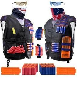 2 Pack Set Kids Tactical Jacket Vest Kit for Nerf N-Strike G
