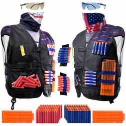 2 Pack Set Kids Tactical Jacket Vest Kit for Nerf N-Strike G