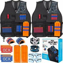 2 Pack Tactical Jacket Vest Kit Compatible With Nerf Guns N-