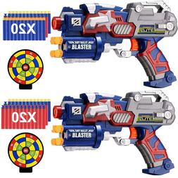 2 Set - Blasters Gun Toy Nerf Gun N-Strike Elite Dart Gun fo