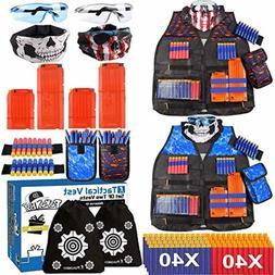 POKONBOY 2 Sets Tactical Vest Kits Compatible with Nerf Guns
