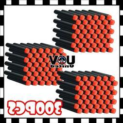 300PCS Black 7.3cm Refill Bullet Darts for Nerf toy Gun N-st