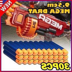30PCS Refill Foam Bullet Darts For Nerf N-Strike Elite Mega