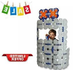 46 Piece 1 Pack Kids Fort Building Educational Kit For Nerf