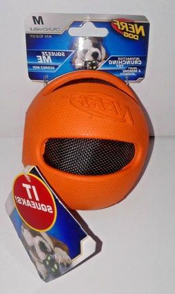Nerf Dog 4in/ 10.2 cm Ball Crunching Chew Toy - Ext Rubber C