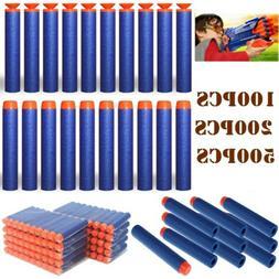500PCS Soft Toy Gun Refill Foam Bullets Darts for Nerf Elite