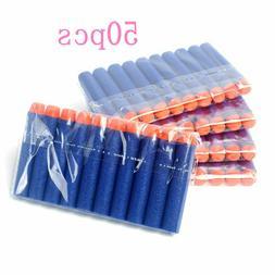 50pcs EVA Bullet Hollow Head Nerf Toy Foam Soft Bullets Toy