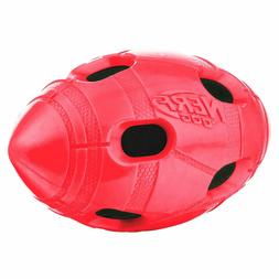 Nerf Dog 6in TPR Bash Crunch Football: Red Drool-worthy Dog