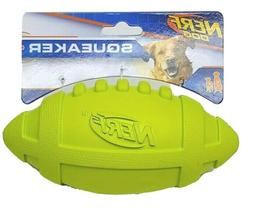 NERF Dog 7 in. Rubber Squeaker Football Dog Toy