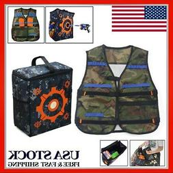 Adjustable Vest Jacket + Storage Target Bag For Nerf Tactica