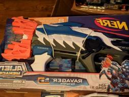 NERF Alien Menace Ravager Elite Rotating Barrel Blaster - RA