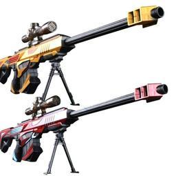 Barrett Nerf Gun Strike Dart Blaster Elite Sniper Toy Lot Cs