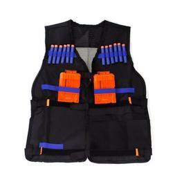 Black Water Nerf Tactical Vest Jacket N-Strike Elite Pistol