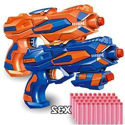 POKONBOY 2 Pack Blaster Guns with 32 PCS Soft EVA Bomb for K