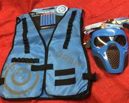 Blue Rival Face Tactical & Vest - Dart Gun Game kids Toy Out