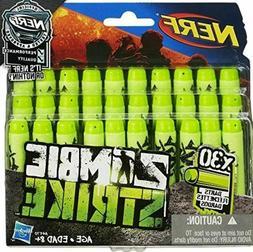 Nerf Dart Refill Kit Zombie Strike 30 Pack Green Foam Bullet