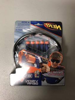 Nerf Elite Vision Gear Goggles Includes 5 Darts - NEW