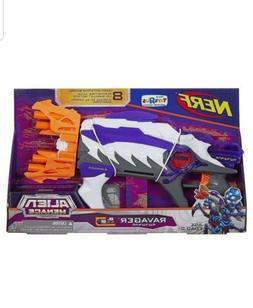 EXCLUSIVE NERF Foam Dart Gun Alien Menace Ravager Blaster Bi