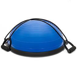 Exercise Fitness Blue Yoga Balance Trainer ball W/ Resistanc