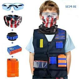 Kids Tactical Vest Kit for Nerf N-Strike Elite with Ammo, Cl