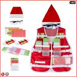 Kids Tactical Vest Kit Nerf Set Gun N-Strike Christmas Limit