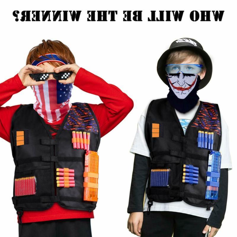 2 Kids Tactical Jackets Vest Kit Waffle N-Strike