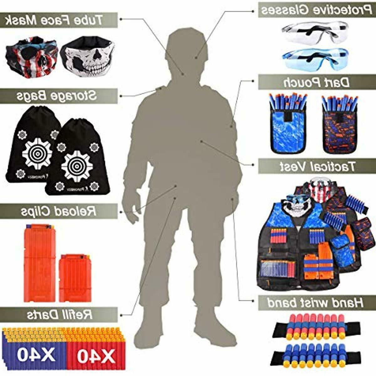 POKONBOY 2 Tactical Vest Kits Nerf Guns N-Strike Seri