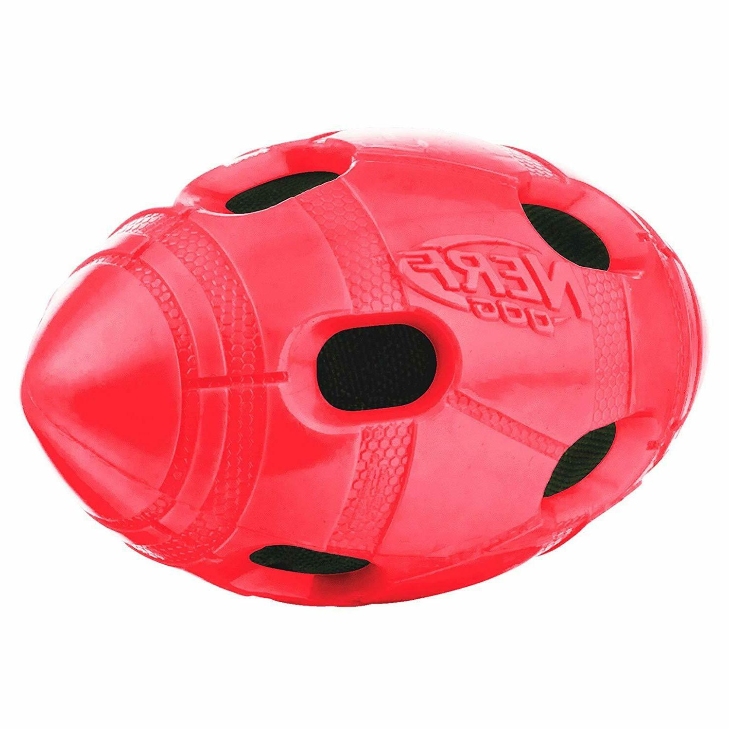 6in tpr bash crunch football red drool