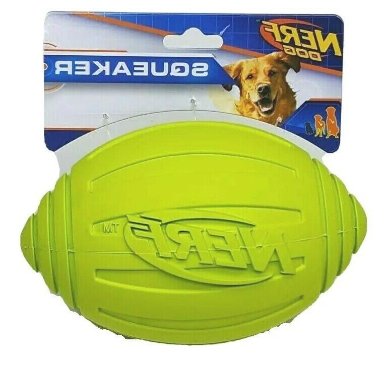 7 in ridged squeaker football dog toy