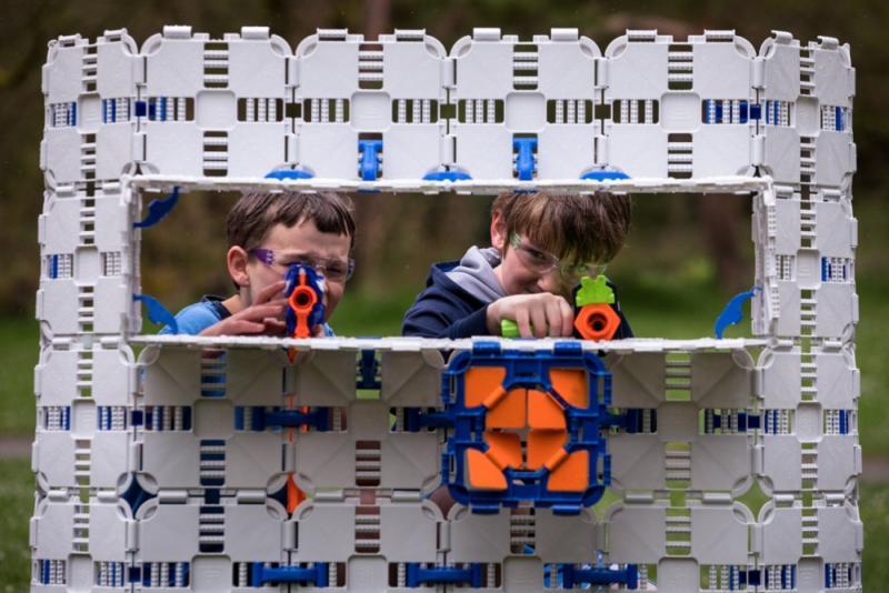 Blaster Boards Pack | Kids Building Kit Nerf Wars Creative |