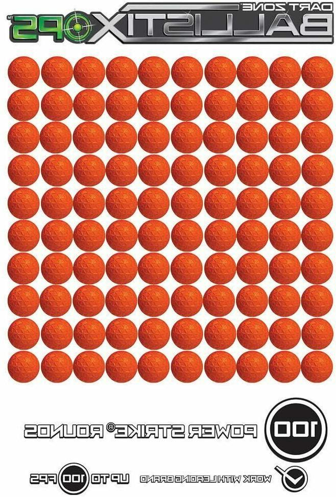 dart zone ballistixops 100 round refill pack