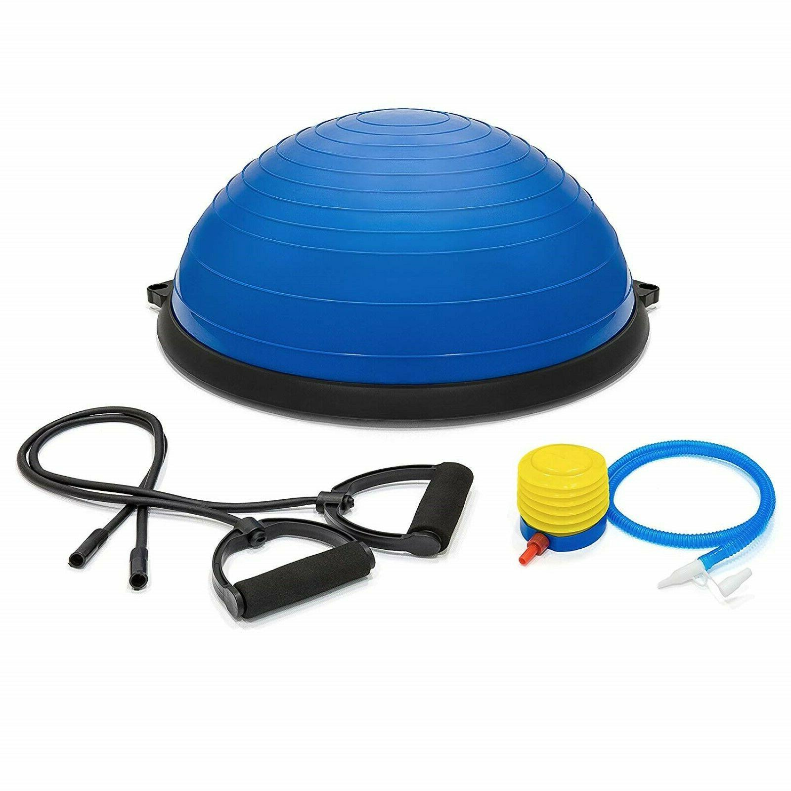 Exercise Ball Yoga Balance Trainer Set 2 Resistance Bands Pu