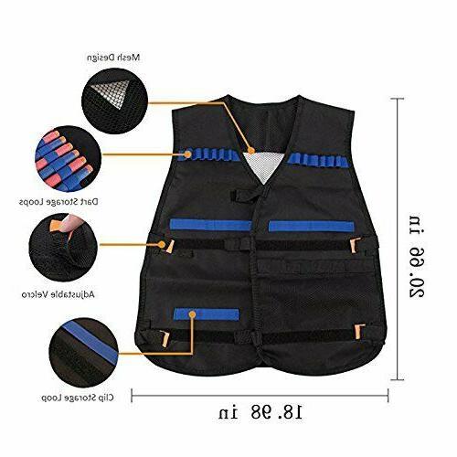 Nerf Vest Kids Foam Darts Kit Set For Nerf N-Strike Gun