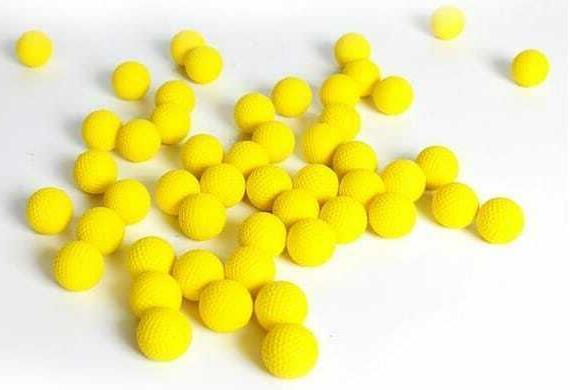 Round Refill Foam Bullet RIVAL Yellow Ammo