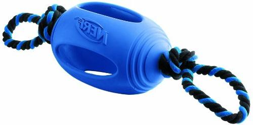 Nerf Rubber Football Tug Toy - Black/Blue - 18 in.