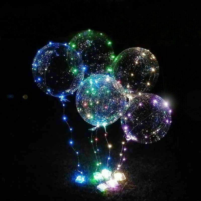 10 Light Balloons Transparent Lights Wedding Kid Birthday