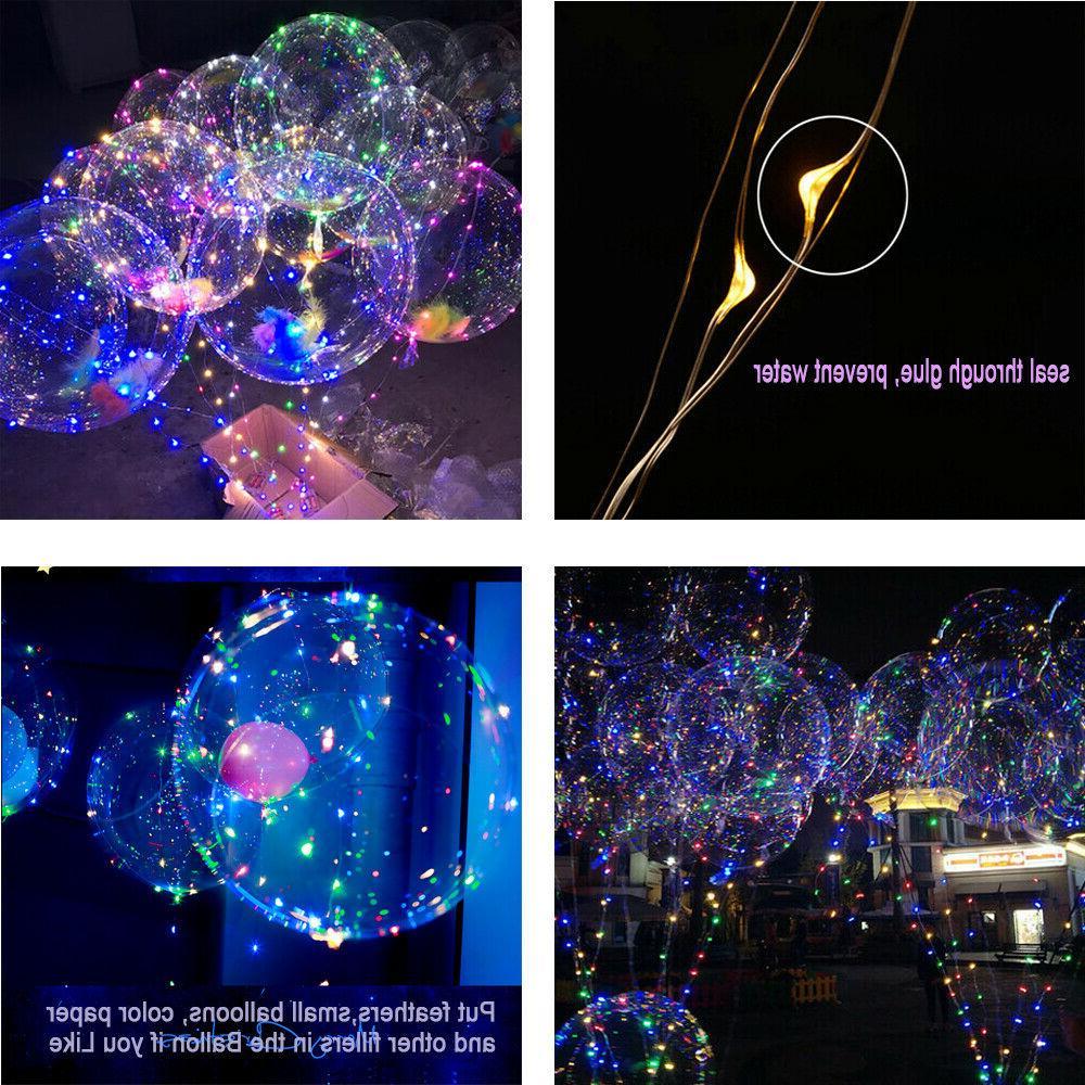 "10 X18""LED Light Balloons Transparent Lights Wedding Kid Party Decor"