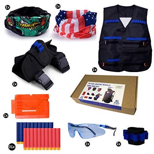 Gifts2U Compatible with Nerf N-Strike Elite, Evil Waist Bag, Quick Clip, Protective Darts