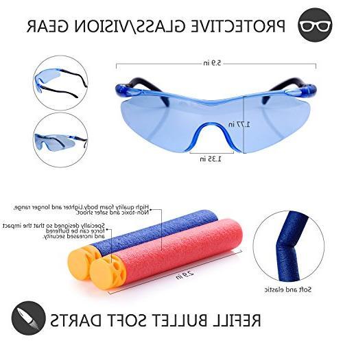 Gifts2U Compatible with N-Strike Evil Tactical Gears: Vest, Waist Bands, Quick Reload Clip, Masks, Protective Glasses, Darts