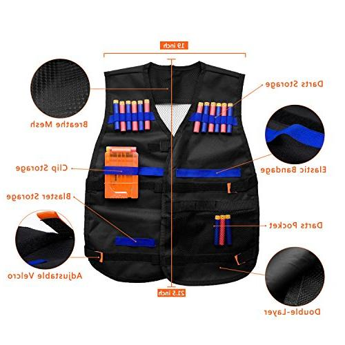 Gifts2U Tactical Compatible N-Strike Elite, Evil Tactical Waist Bands, Quick Protective Refill Soft Darts