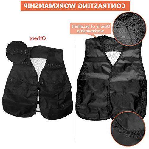 Gifts2U Tactical Compatible N-Strike Elite, Evil Tactical Vest, Waist Bag, Quick Masks, Protective Darts