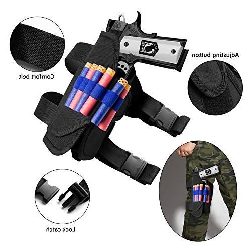 Gifts2U Tactical Kit Compatible N-Strike Evil Tactical Gears: Waist Wrist Quick Clip, Protective Glasses, Refill Darts