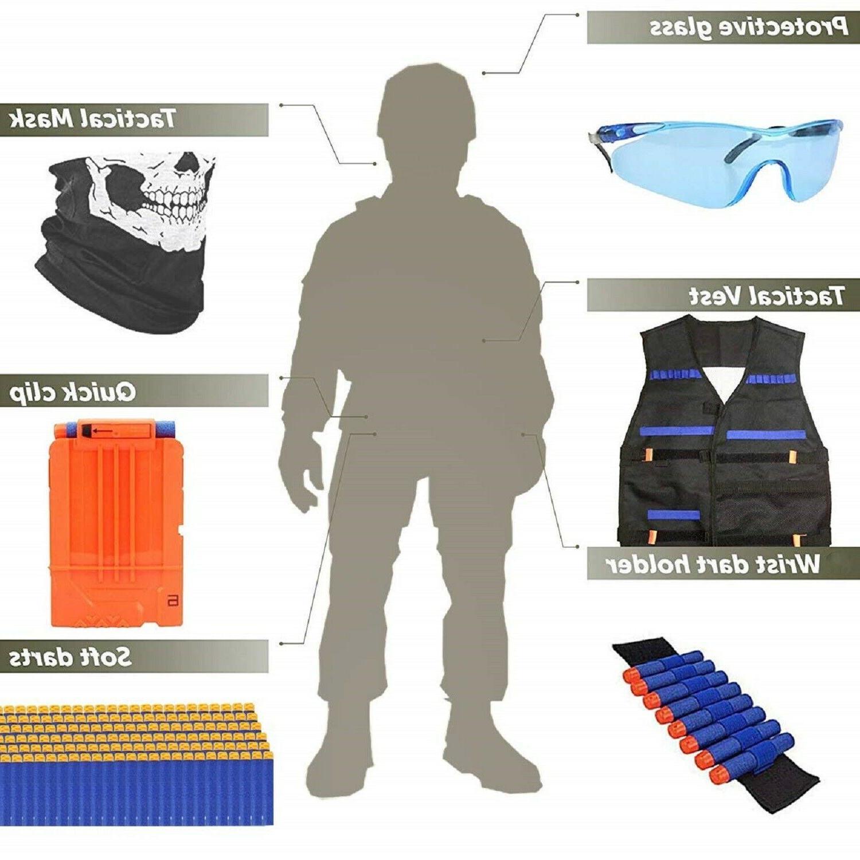NERF VEST Kit Boys Foam Mask ALL IN