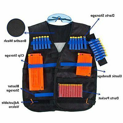 TAVEKI Tactical Vest Compatible for Nerf for wit...