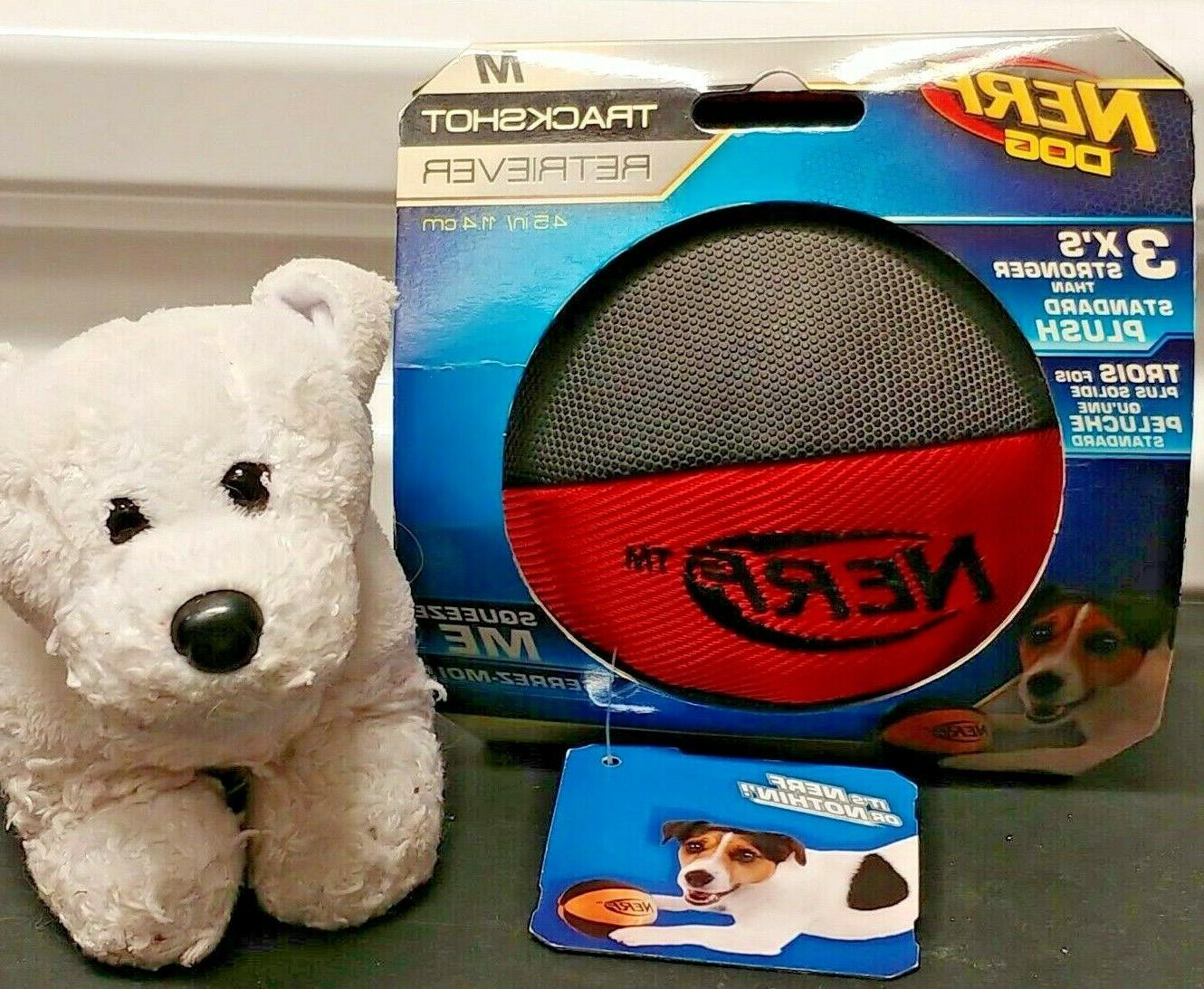 trackshot ball dog toy squeaker interactive exercise