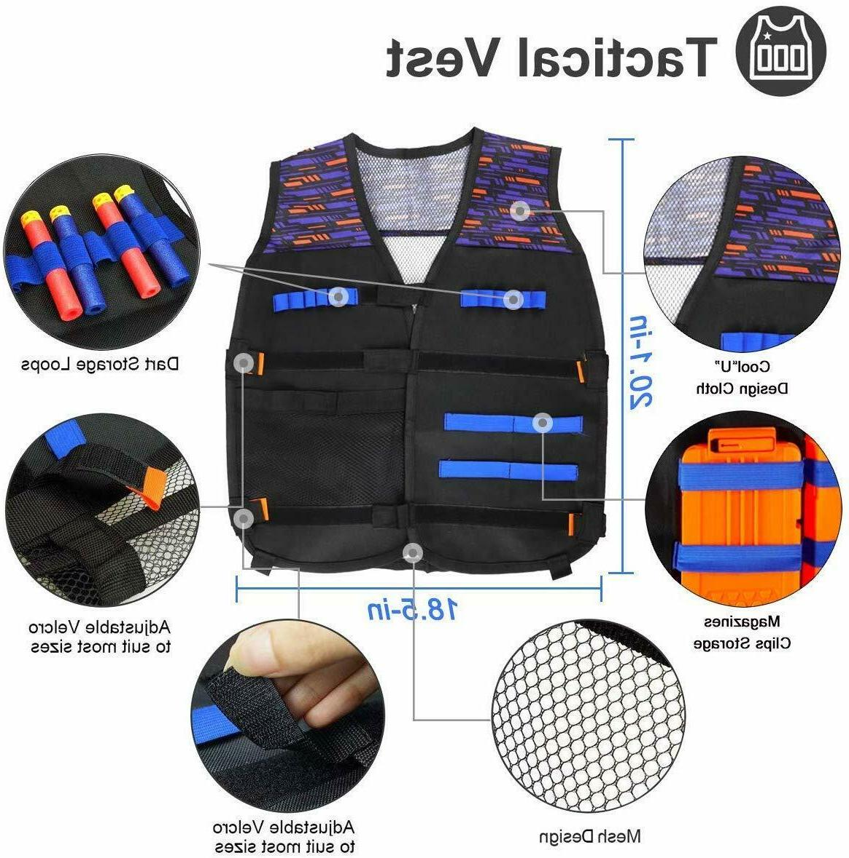 POKONBOY Vest Compatible with Nerf Guns N-Strike