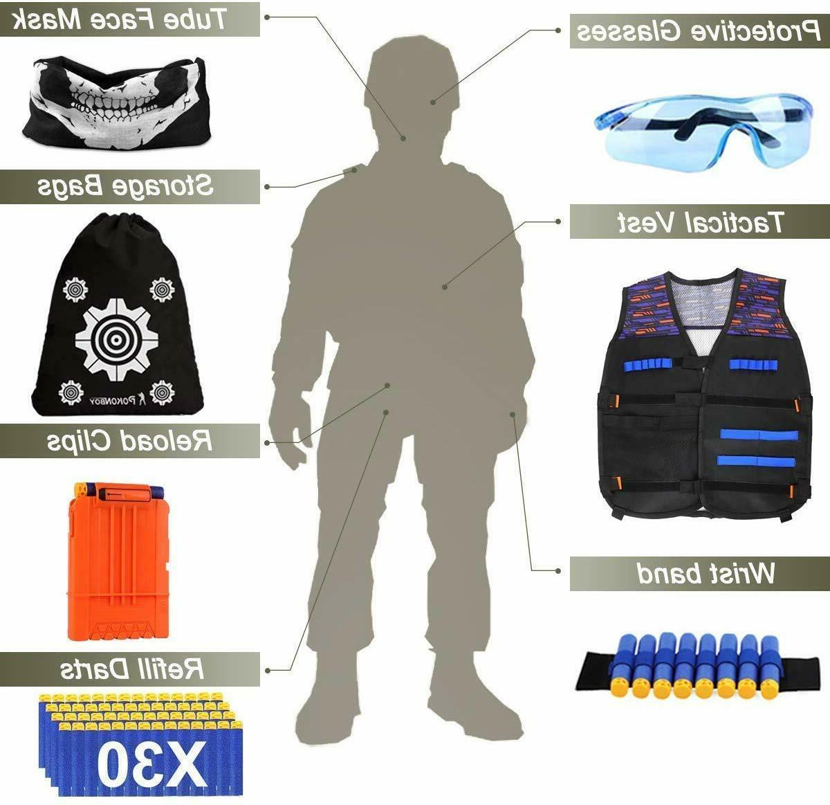 POKONBOY Tactical Vest Nerf N-Strike Elit
