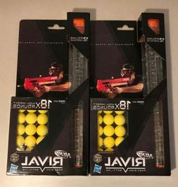 Lot of 2 NERF Rival 18 High Impact Rounds Refill Pack & 12 R